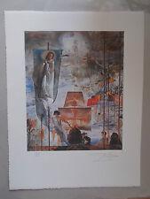 """Lithographie Salvador Dali  """" La Découverte des Amériques """" ,signée et numérotée"""