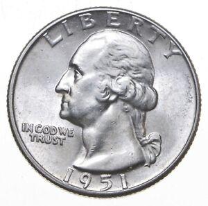 Unc BU MS 1951-D - US Washington 90% Silver Quarter Coin Set Break *825