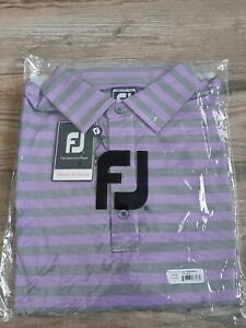 NEW FootJoy Mens End On End Multi Stripe Athletic Fit Performance Polo XL 25795