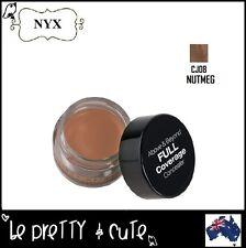 NYX CONCEALER JAR (CJ08 NUTMEG) FULL COVERAGE Dark Tan with Yellow Undertones