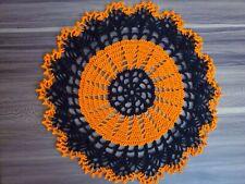 Handmade Vintage Crochet Design Actual Crocheted Halloween Doily New