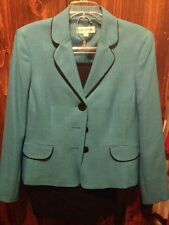 Womens 2pc. Turquoise/Black Skirt Suit Evan Picone 10 Very Nice Worn Once Sale!!