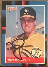 Mark McGwire signed/autographed St.Louis Cardinals/Athletics 1987 Donruss 256