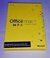 MICROSOFT OFFICE 2011 HOME AND STUDENT MAC DVD USED GZA-00136 100% GENUINE UK