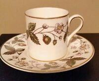 Wedgwood STRAWBERRY HILL Demitasse Cup & Saucer Set(s) of 2