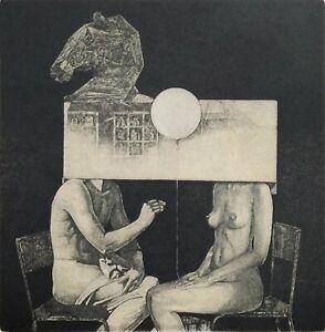 IVAN RUSACHEK, Art Print, Original Hand Signed Etching, Ex Libris Bookplate,2017