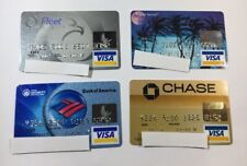 4 Expired Credit Cards For Collectors - Visa Random Collection Pulls Lot (7039)