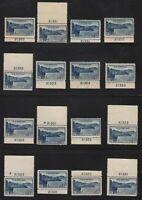 1934 National Parks Sc 745 MNH 16 plate number singles Hebert CV $84
