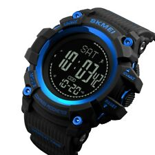 Skmei hombres reloj LED Digital Compass pedometer Calorie deportes militares