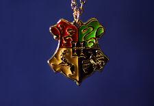 Harry Potter Hogwarts Wappen Kette 18K PL Gryffindor mit Schmuckbeutel