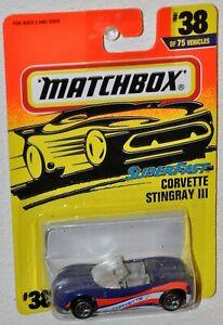 Matchbox 1997 #38 Super Fast Corvette Stingray III MOC Tyco Toys MB255