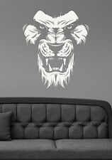 Lion Wall Sticker African Wildcat Vinyl Decal Safari Art Animal Head Decor ln3