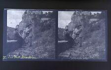 Pont Brantome DordognePhoto stéréo négatif sur film souple 1914