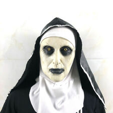 The Scary Nun Horror Latex Mask w/Headscarf Valak for Halloween Cosplay Costume