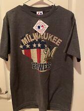 Milwaukee Brewers Baseball Men's Shirt Size Medium MLB