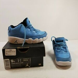 Nike Air Jordan 9 Retro Low ST Baby Blue over White Toddler Sz 9