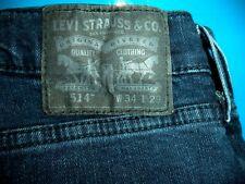 Mens Levis 514 Slim Straight Fit Stretch Waist Jeans size 34 x 29   ..#237
