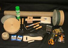 Kit de herramienta de tapicería Deluxe 22 Tachuela Grapa Cinceles Martillo Camilla Agujas De Yute