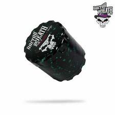 Chongz Dr.death 60mm 4 Part Sifter Premium Grinder Black Green Splashes Goth