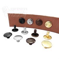 Solid brass rustproof double cap rivets 6 7 9 mm cap Studs Leather craft rapid