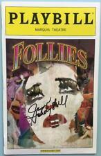 Signed  Jayne Houdyshell (Only) Follies Playbill  Bernadette Peters Elaine Paige