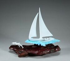 SAIL-BOAT Figurine YACHT-DINGY New direct from JOHN PERRY 9in tall Statue Art