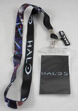 New Halo 5: Guardians Panels ID Holder Lanyard Neckstrap W/Metal Charm