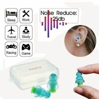 Silicone Ear Plugs Noise Cancelling Earplugs Hearing Study Sleep Protector US