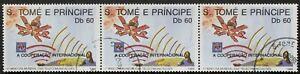 """Sao Tome e Principe: Mi-Nr. 1150 """"Int. Tag d. Telekommunikation"""" Zdr.1989, gest."""