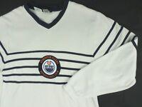 Vintage Mens Edmonton Oilers Athletics NHL Crewneck Beige Sweater Jumper Size L