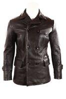Eccleston Black Cow Hide German Submariner WW2 Vintage Leather Coat / Jacket