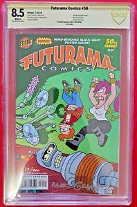 Matt Groening Signed - Limited Edition Futurama Comic #50 - SDCC 2010 - CBCS 8.5