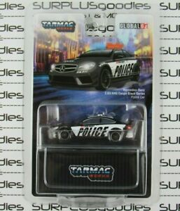 Tarmac Works 2021 Global64 MERCEDES-BENZ C63 AMG Coupe Black Series POLICE Car