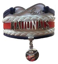 Washington Nationals Baseball Infinity Bracelet Jewelry Apparel