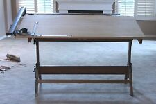 Hamilton Drafting Table with Cast Iron accessories & Vemco mk XII Drafting Arm