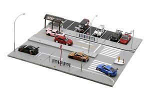 Tiny Street Diorama - S2 Japan Road Set (Cars and figures not included)