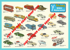 Triang Minic Motorway Vehicles 1964 A3 Size Poster Shop Display Sign Leaflet