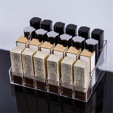 24 Clear Acrylic MakeUp Brush Storage Organizer Case Box Display Lipstick Holder