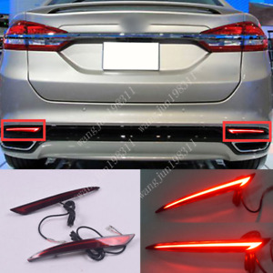 Fit For Ford Fusion2013-2018 LED Rear Bumper Fog Light/Brake Warning/Turn Signal