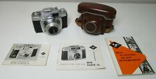 AGFA SILETTE SL 50mm CAMERA WITH PAPER WORK MANUAL SPECIFICATIONS & HOW TO USE