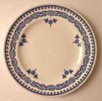 Antique Royal Worcester C51 Porcelaiin Dinner Plate Blue & White Abram French Co