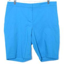 Rafaella Womens Blue Curvy Pockets Shorts NWT Size 14