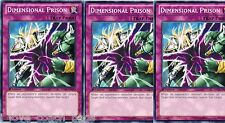 Dimensional Prison 1st X 3 SDCR Common New Mint  English YU-GI-HI! Cards