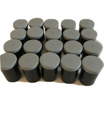 Lot of 20 Empty Plastic Film Containers 35mm Photography Black with Gray Lids