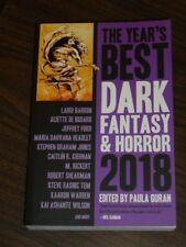 Year's Best Dark Fantasy & Horror 2018 Paula Guran (Paperback)< 9781607015284