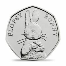 2018 UNCIRCULATED FLOPSY BUNNY FIFTY PENCE COIN 50p FROM SEALED BAGS - RARE (1)