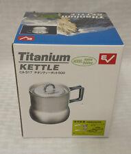 NEW Evernew Titanium Ultralight 600 ml Tea Pot w/Lid ECA317