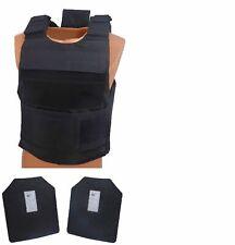 AR500 Armor Level III Body Armor with Lightweight Vest - Black