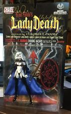 LADY DEATH ACTION FIGURE SIGNED BY BRIAN PULIDO & CLAYBURN MOORE NIB