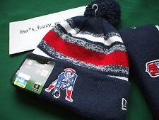 New England Patriots New Era knit pom hat 2014 AUTHENTIC Tom Brady Throwback !!